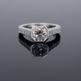 Solitaire Diamonds Ring, Platinum
