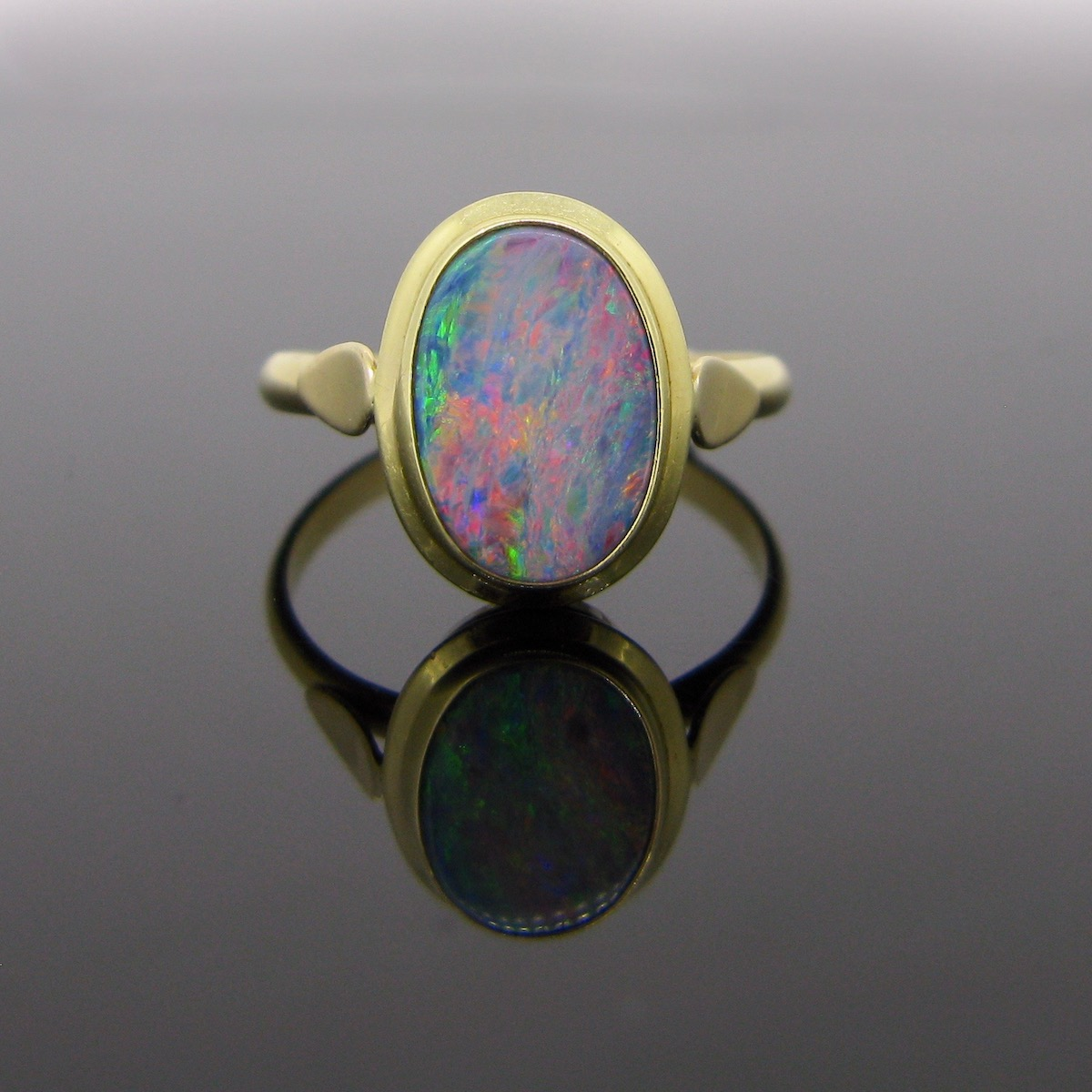 Victorian 14kt Yellow Gold Opal Ring