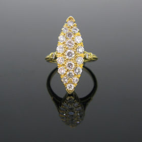 French Marquise Diamonds Ring