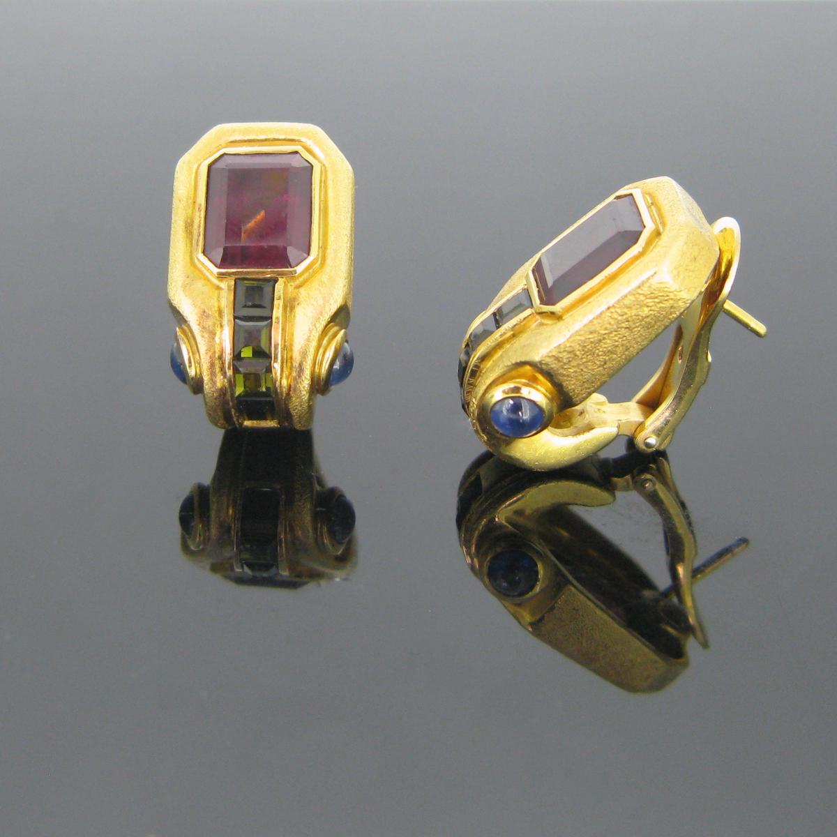 Vintage Tourmalines Earrings Clips