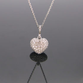 Heart Diamonds Pendant on Chain