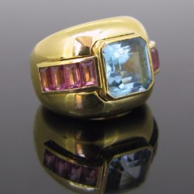 Topaze and Tourmalines Ring by POIRAY