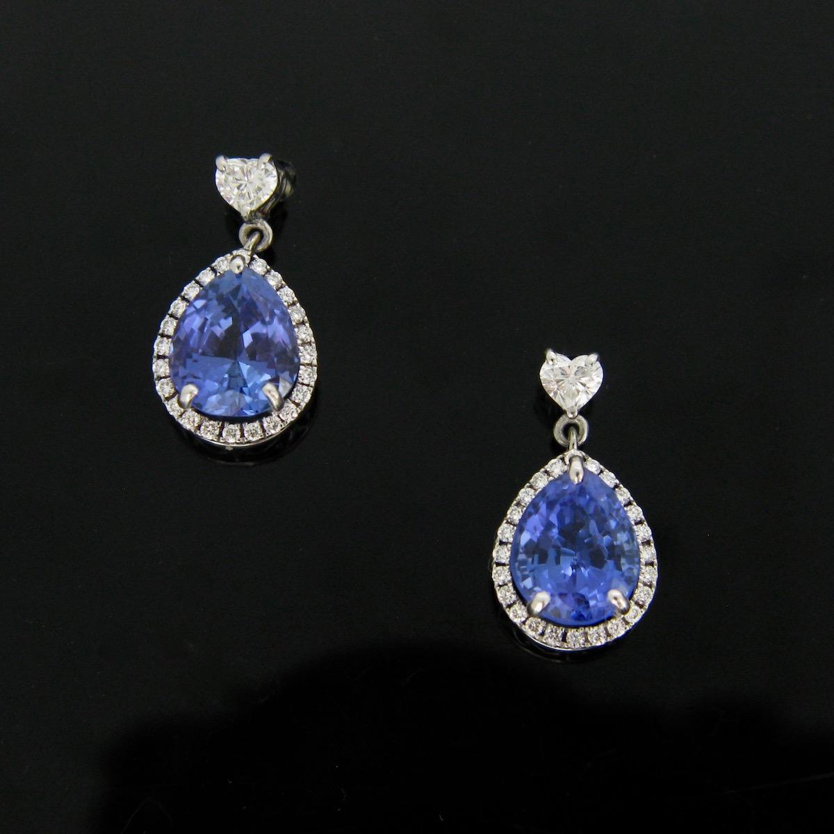 Tanzanites Diamonds Earrings