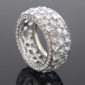 Riviere Rose Cut Diamonds Ring by JAHAN