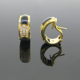 Onyx and Diamonds Earrings