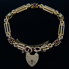 Locket Link Ruby Bracelet, 1914