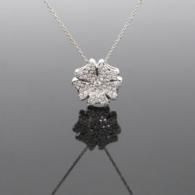 Flower Diamonds Pendant on Chain