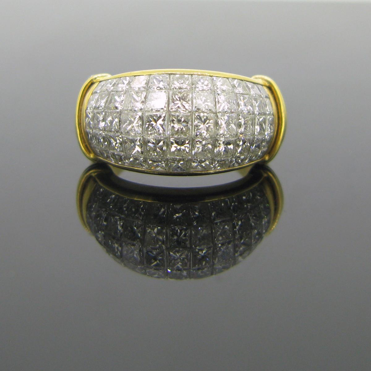 Princess Cut Diamonds Ring
