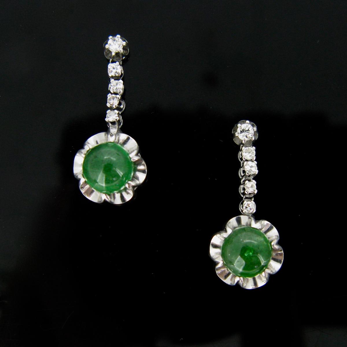 Tsavorites Diamonds Earrings