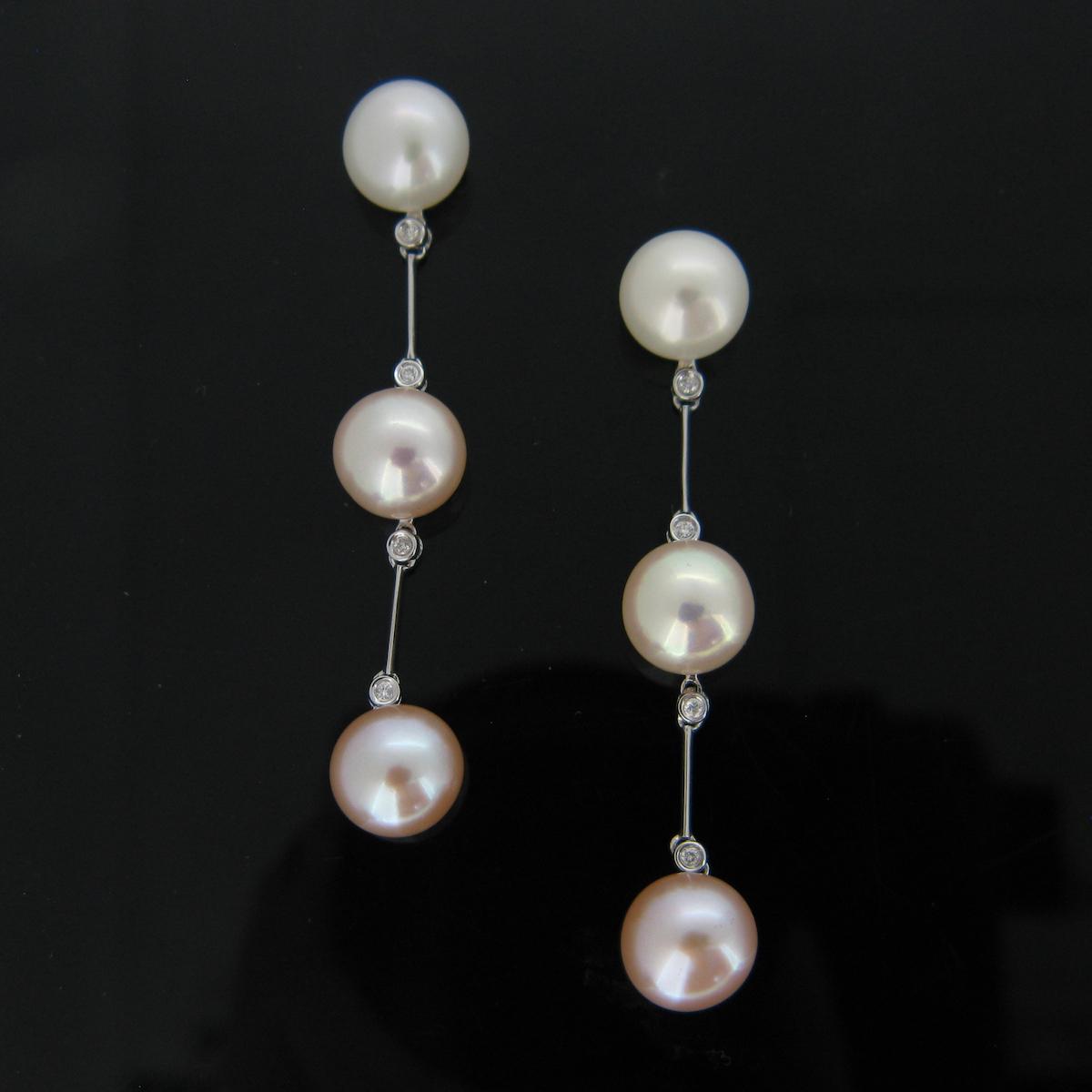 Pearls and Diamonds Pendants