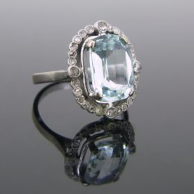 Belle Epoque Aquamarine Diamonds Ring