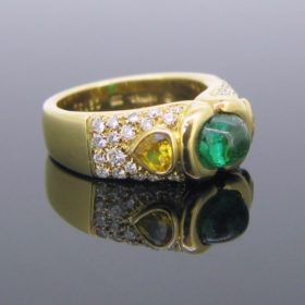Marina B Emerald Diamonds Ring