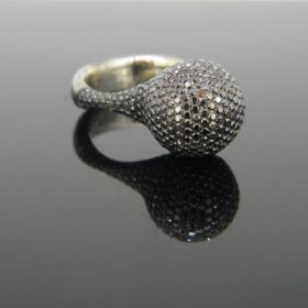 Black Diamonds 18kt Black Gold Ring by JOC