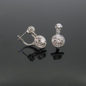 French Diamonds Dormeuses Earrings