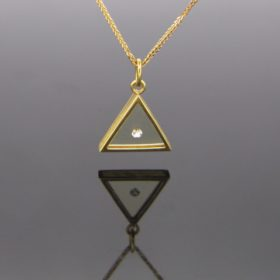 Vintage Diamond Triangle Pendant by MORABITO