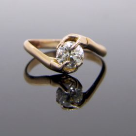 Fairy Hand Diamond Rose Gold Ring