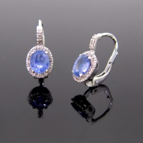 Ceylon Sapphires & Diamonds Earrings