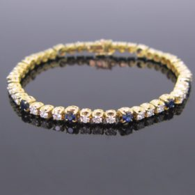 Sapphires & Diamonds Tennis Bracelet