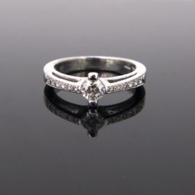 Solitaire Brilliant Cut Diamonds Ring