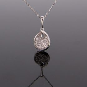 Diamonds Drop Pendant on Chain