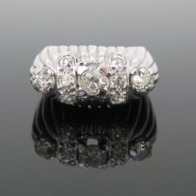 French Retro Diamonds Ring