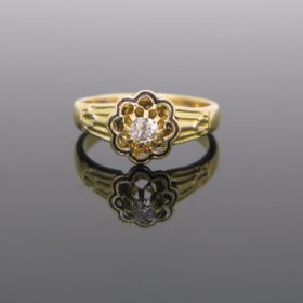 French Victorian Enamel Diamond Ring
