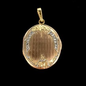 French Art Nouveau Diamonds Locket