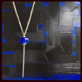Blue Crystal on Silver Necklace by BACCARAT