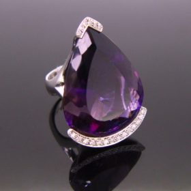 Amethyst & Diamonds Ring by Ph. Comoy