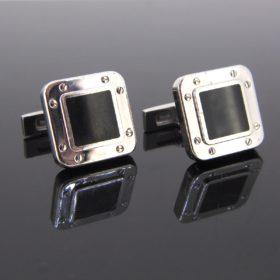 Santos de Cartier Silver Cufflinks