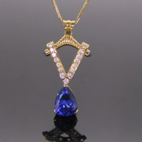 Tanzanite & Diamonds Pendant