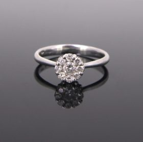 Brilliant Cut Diamonds Cluster Ring