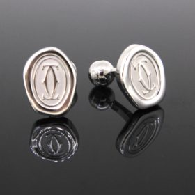 Wax Seal Decor Cufflinks by CARTIER