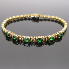 Tsavorites & Diamonds Bracelet