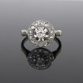 French Belle Epoque Diamonds Ring
