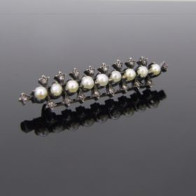 Victorian Pearls & Diamonds Brooch