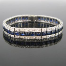 Art Deco Sapphires & Diamonds Bracelet