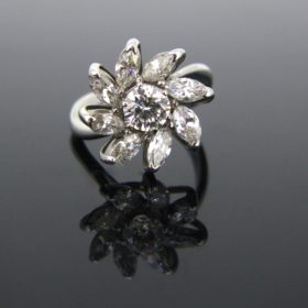 Daisy Diamonds Cluster Ring