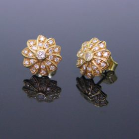 Diamonds Flowers Earrings