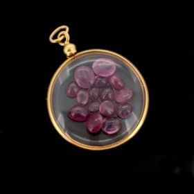 Late 19th Century Locket with Rubies