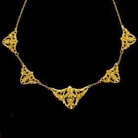 French Art Nouveau Draperie Necklace