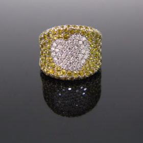 Diamonds & Yellow Sapphires Ring by BRUNI