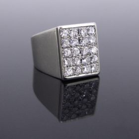 Signet Pave Diamonds Ring