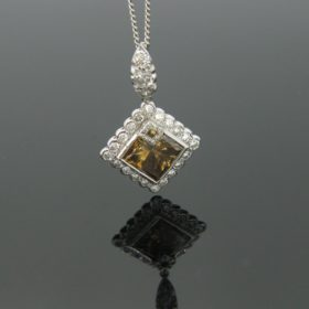Brown Diamond Pendant on Chain