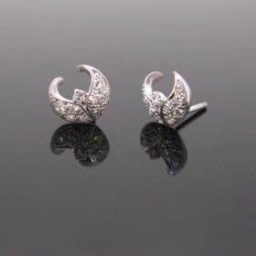 Diamonds Moon Earrings Studs
