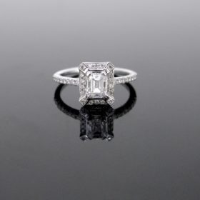 Emerald Cut Diamonds Cluster Ring