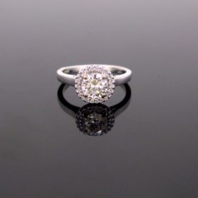 Solitaire Diamond Cluster Ring