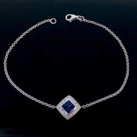 Sapphires and Diamonds Bracelet