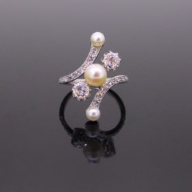 Edwardian Diamonds & Pearls Ring