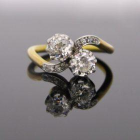 Antique Toi Et Moi Diamonds Ring